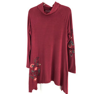 Soft Surroundings Floral Embroidered Tunic